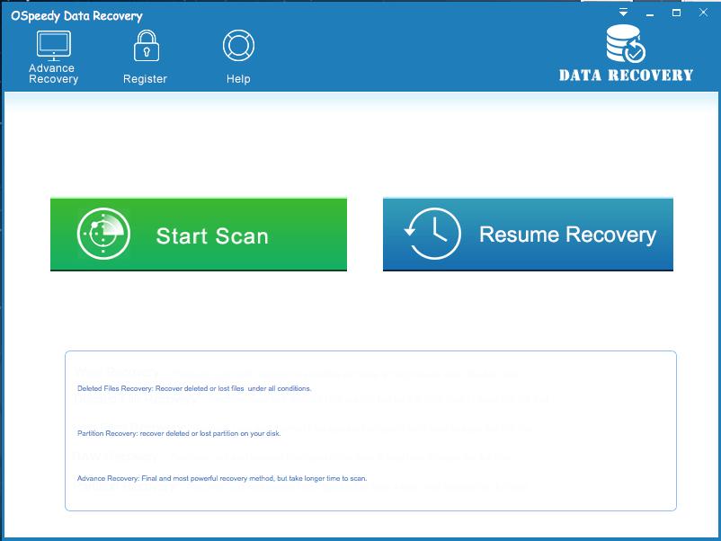 OSpeedy Data Recovery for Mac