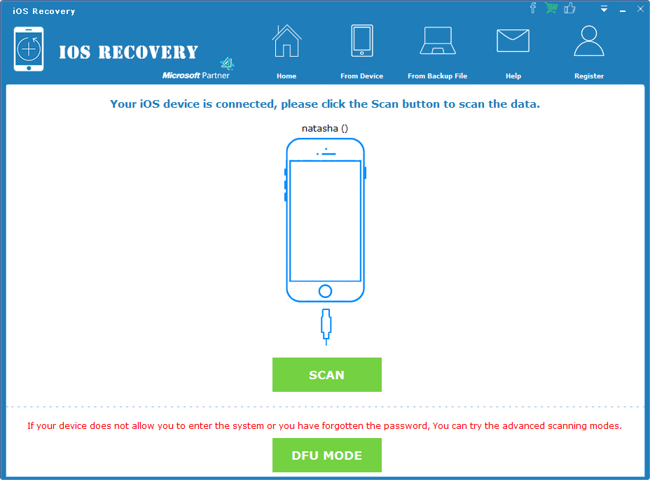 Powerful iOS data recovery software